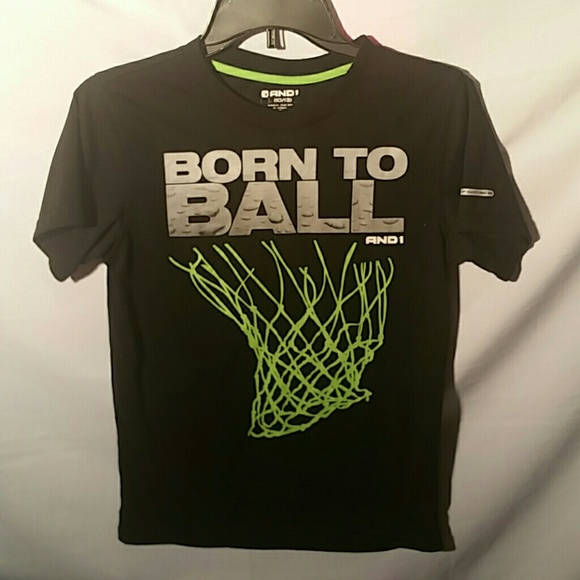 """NWT XL /& XXL Size L AND1 Boys/' /""""Born to Ball/"""" Graphic Tee Shirt"""
